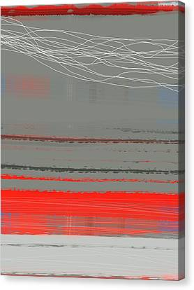 Abstract Red 2 Canvas Print by Naxart Studio