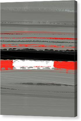 Abstract Forms Canvas Print - Abstract Red 4 by Naxart Studio