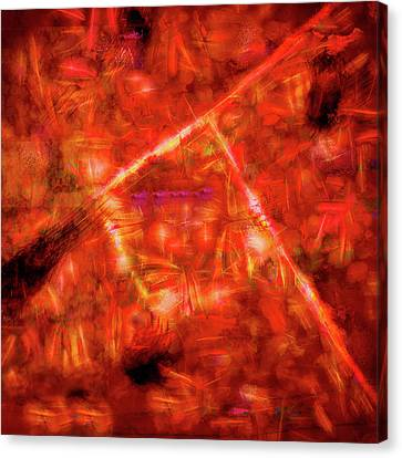 Abstract Art On Canvas Print - Abstract - Red Square by Jon Woodhams
