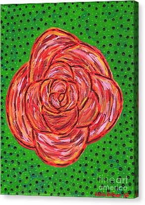 Canvas Print - Abstract Rose by Kasia Bitner