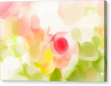 Abstract Roses Canvas Print by Tom Gowanlock