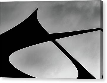 Canvas Print featuring the photograph Abstract Sailcloth 198 by Bob Orsillo