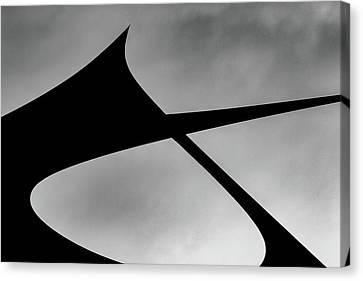 Canvas Print featuring the photograph Abstract Sailcloth 198 by Bob Orsillo