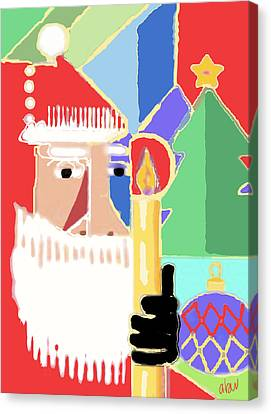 Abstract Santa Canvas Print by Arline Wagner