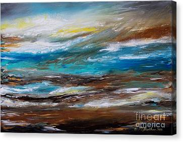 Abstract Seascape Canvas Print by Patricia L Davidson