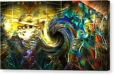 Abstract Shapes And Figures Canvas Print by Marco De Mooy