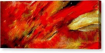Canvas Print featuring the painting Abstract-simple Red 3 by Sherri  Of Palm Springs