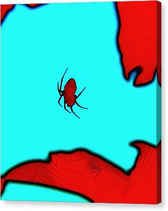 Canvas Print featuring the photograph Abstract Spider by Linda Hollis