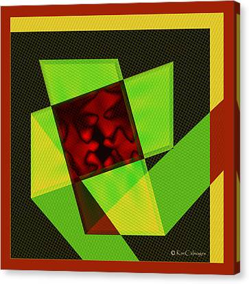 Canvas Print featuring the digital art Abstract Squares And Angles by Kae Cheatham