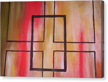Abstract Squares Canvas Print by Becca Haney