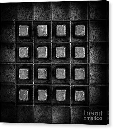 Abstract Squares Black And White Canvas Print by Edward Fielding