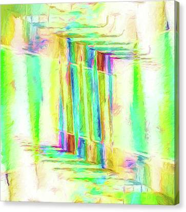 Abstract Art On Canvas Print - Abstract - Stained-glass Dreams by Jon Woodhams
