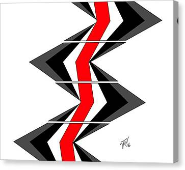 Canvas Print featuring the digital art Abstract Stairs by John Wills