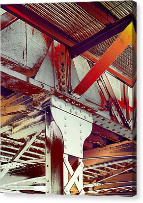 Canvas Print featuring the photograph Grunge Steel Beam by Robert G Kernodle