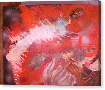 Abstract Study In Red  Canvas Print by Anne-Elizabeth Whiteway