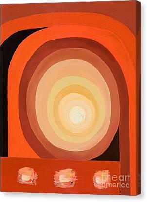 Abstract Sun Canvas Print