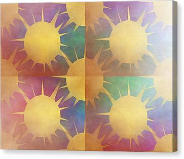 Abstract Sun Canvas Print by Kathleen Sartoris