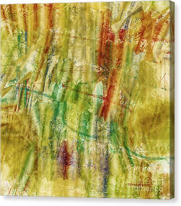 Canvas Print featuring the digital art Abstract Sunday by Deborah Benoit