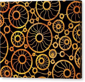 Abstract Sunflower Field Canvas Print by Frank Tschakert