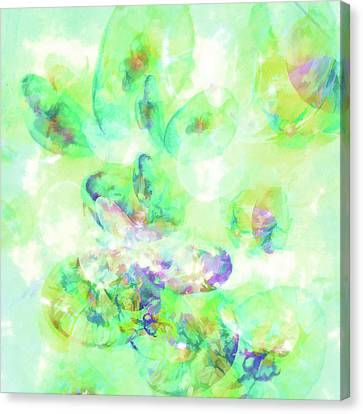 Abstract Art On Canvas Print - Abstract - Sunlight On Waves by Jon Woodhams