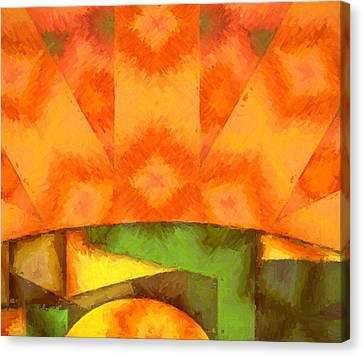 Sun Rays Canvas Print - Abstract Sunrise by Dan Sproul