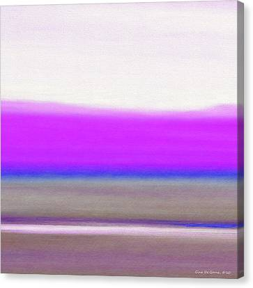 Abstract Sunset 65 Canvas Print by Gina De Gorna