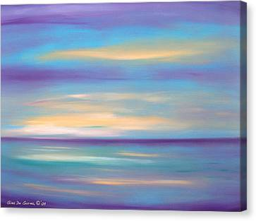 Abstract Sunset In Purple Blue And Yellow Canvas Print