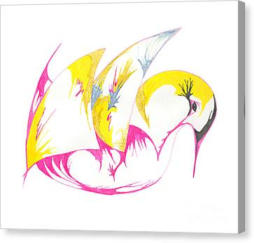 Abstract Swan Canvas Print