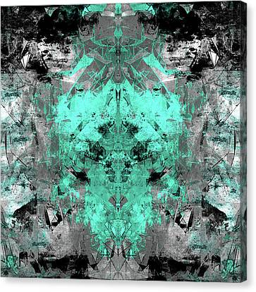 Sun Rays Canvas Print - Abstract Teal Grey by Filippo B