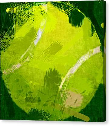 Tennis Canvas Print - Abstract Tennis Ball by David G Paul
