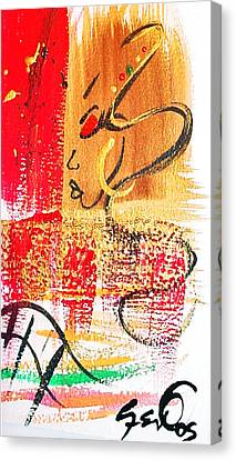 Abstract Thoughts  Canvas Print by  Simone Fennell