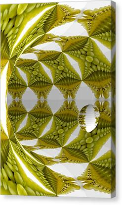 Abstract Tunnel Of Yellow Grapes  Canvas Print