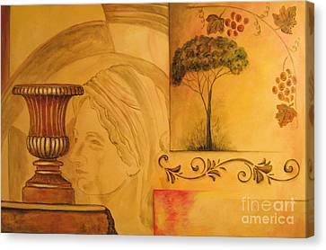Abstract Tuscany Garden Canvas Print