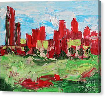 Abstract Uptown 6586 Canvas Print by Robert Yaeger