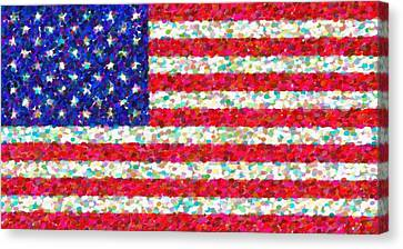 Abstract Usa Flag 3 Canvas Print