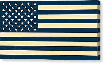 Abstract Usa Flag Canvas Print
