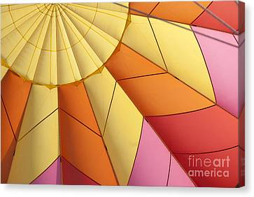 Abstract View Of Hot Air Balloon Canvas Print by Juli Scalzi