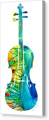 Orchestra Canvas Print - Abstract Violin Art By Sharon Cummings by Sharon Cummings