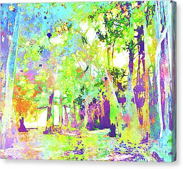 Beach Chair Canvas Print -  Abstract Watercolor - Banyan Forest II by Chris Andruskiewicz