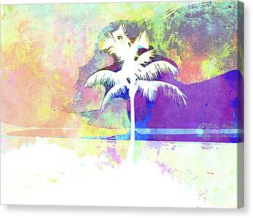 Beach Chair Canvas Print - Abstract Watercolor - Beach Sunset II by Chris Andruskiewicz