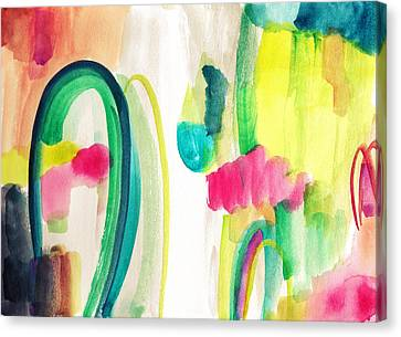 Abstract Watercolor Canvas Print by My Art