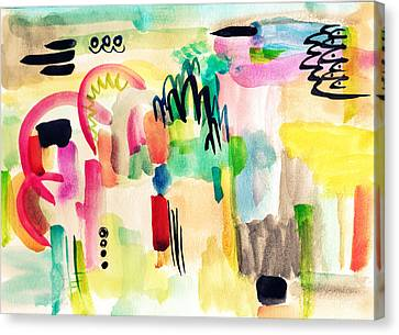 Abstract Watercolor Painting Canvas Print by My Art