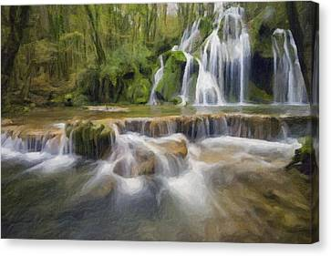 Abstract Waterfalls  Canvas Print by Celestial Images
