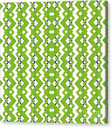 Abstract White, Green And Blue Pattern For Home Decoration Canvas Print by Pablo Franchi
