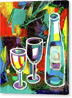 Pinot Noir Canvas Print - Abstract Wine Lovers by Genevieve Esson