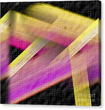 Abstract With A Black Background Canvas Print by John Krakora