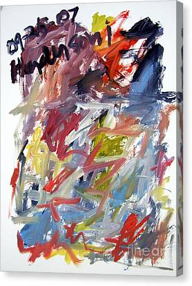 Abstract With Black Date Canvas Print by Michael Henderson