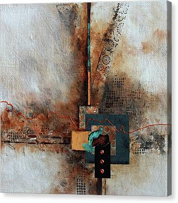 Canvas Print featuring the painting Abstract With Stud Edge by Joanne Smoley