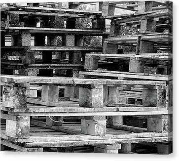 Industrial Background Canvas Print - Abstract Wooden Palets by Martin Newman