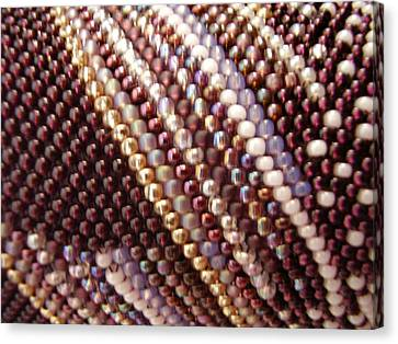 Seed Beads Canvas Print - Abstract by Yvette Pichette